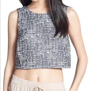 Joie Black & White Crop Tank
